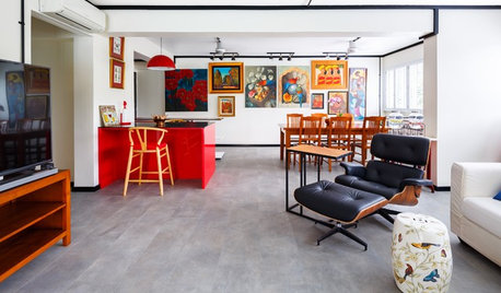Houzz Tour: Chinoiserie Meets Industrial for a Single Gal