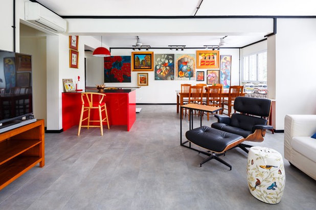 Eclectic Living Room by Team Interior Design