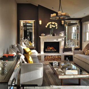 Mirrors On Sides Of Fireplace Houzz