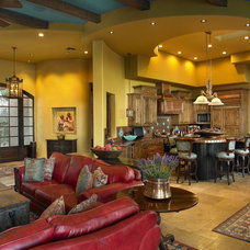 Southwestern Living Room by Soloway Designs Inc | Architecture + Interiors