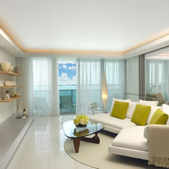 modern living room by Tessi Garcia Interior Design