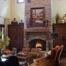 Traditional Living Room by Brent Gibson Classic Home Design