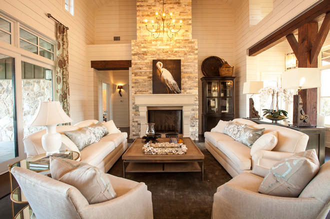 Farmhouse Living Room by Geschke Group Architecture