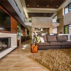 Modern Living Room by Two Trails | Green Building Consulting