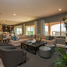 Traditional Living Room by Meritage Homes