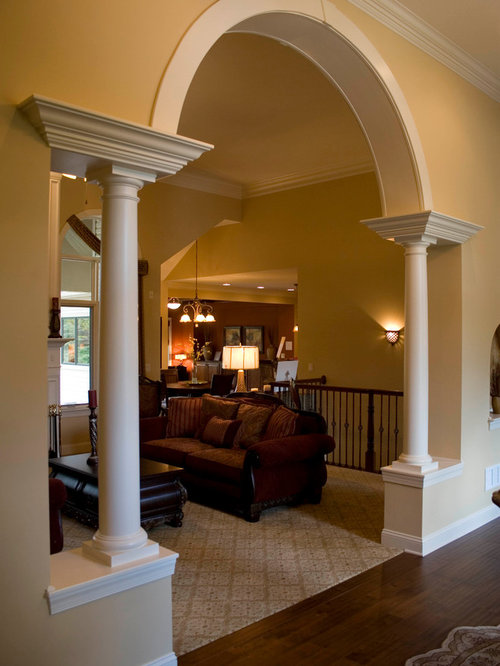 Pillar arch home design ideas pictures remodel and decor Home arch design