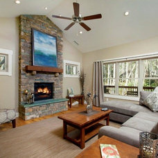 Traditional Living Room by Living Stone Construction, Inc.