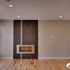 Modern Living Room by Kanvi Homes