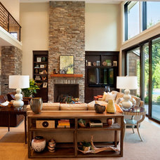 Transitional Living Room by Westlake Development Group, LLc