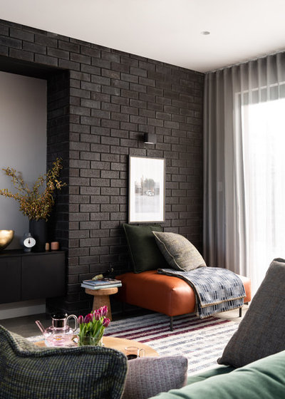 Modern Living Room by Brickworks Building Products