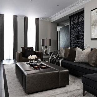 Black Sofa Living Room Ideas And Photos Houzz