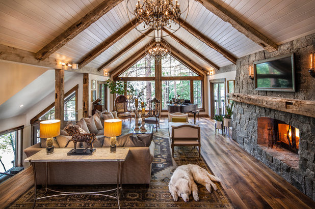 Rustic Living Room by Talie Jane Interiors