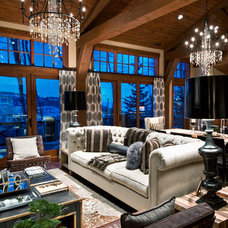 Eclectic Living Room by Alder and Tweed