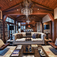 Contemporary Living Room by Alder and Tweed