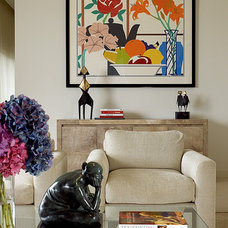 Contemporary Living Room by Bruce Bierman Design