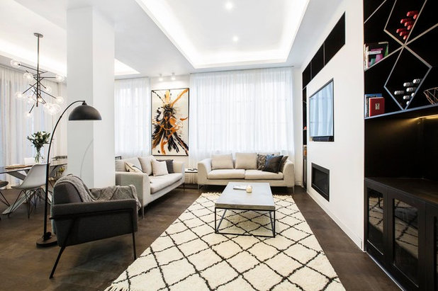 Contemporary Living Room by The Block Shop