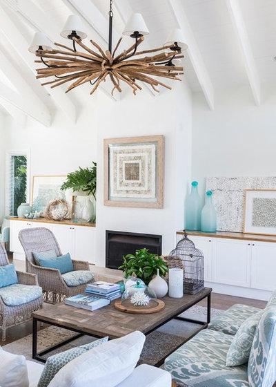 Beach Style Living Room by Dan the Sparky Man