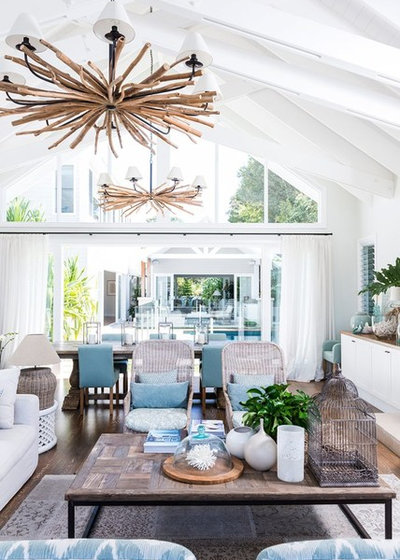 Beach Style Living Room by Dan the Sparky Man