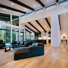 Contemporary Living Room by Rockridge Fine Homes