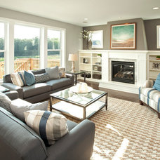 Transitional Living Room by Robert Thomas Homes