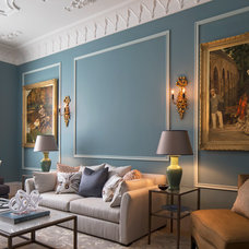 Traditional Family Room by Roselind Wilson Design
