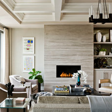 Transitional Living Room by Terrat Elms Interior Design