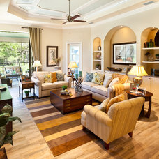 Traditional Living Room by John Cannon Homes