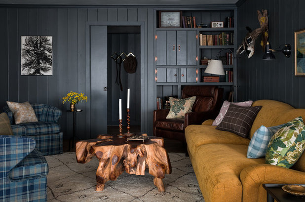 Rustic Living Room by Heidi Caillier Design