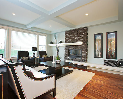 Houzz Asymmetrical Fireplace Design Ideas Remodel Pictures