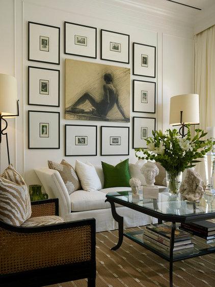 Transitional Living Room by Diamond Custom Homes, Inc.