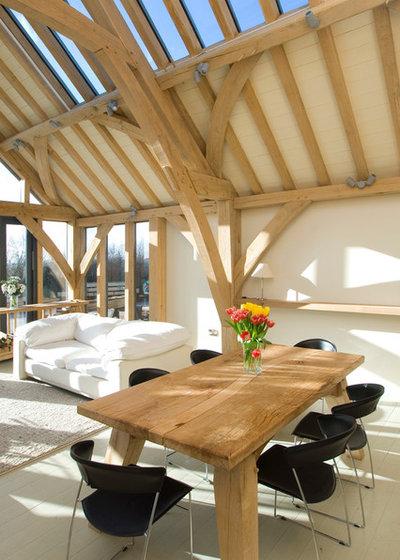 Traditional Living Room by Carpenter Oak Ltd