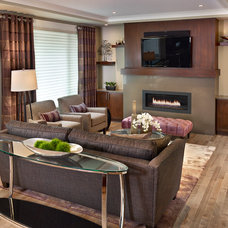 Transitional Living Room by Infiniti Master Builder