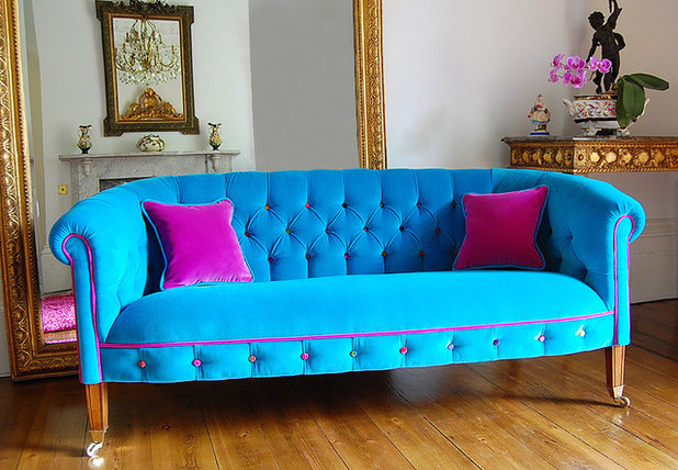 Eclectic Living Room by D Swift