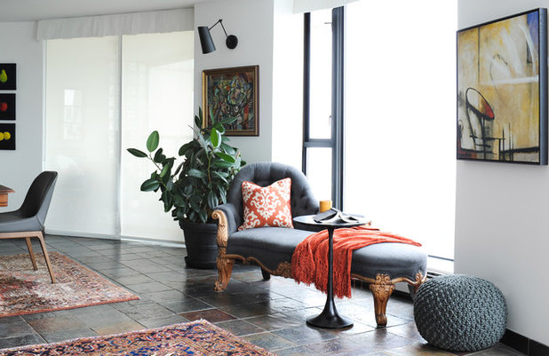 Transitional Living Room by Simply Home Decorating