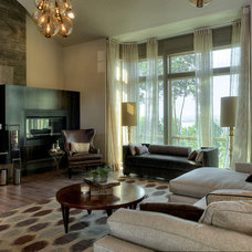 Transitional Living Room by Urban I.D. Interior Design Services