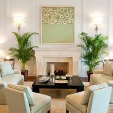 Traditional Living Room by Hughes Design Associates