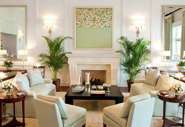 Traditional Living Room by Hughes Design Associates