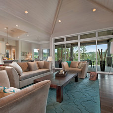 Contemporary Living Room by Sticks and Stones Design Group inc.