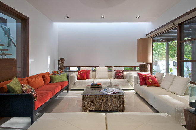 Contemporary Living Room by Hiren Patel Architects