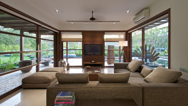 Contemporary Family Room by Hiren Patel Architects