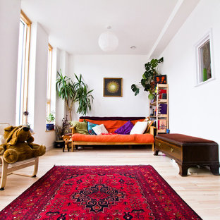 Photo of a bohemian living room in Other.