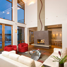Contemporary Living Room by Neal Huston & Associates