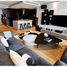 Contemporary Living Room by The Grene Group