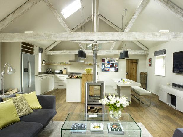 10 ways to work an open plan kitchen and living space - Casas americanas por dentro ...