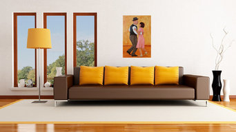 The Dance Lesson - shown in contemporary living room