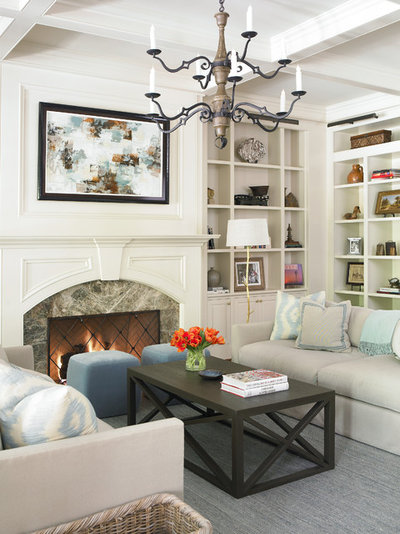 Traditional Living Room by The Design Atelier
