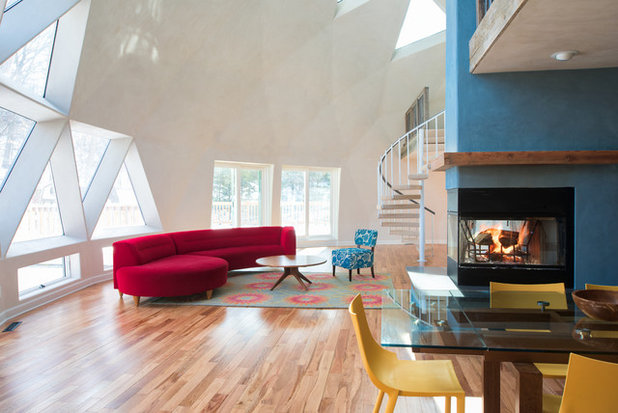Houzz tour light color and playfulness under the dome