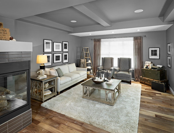 Eclectic Living Room by Homes by Avi