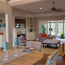 Traditional Living Room by W. Epstein Builders