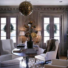 Farmhouse Living Room by Dovetail Homes